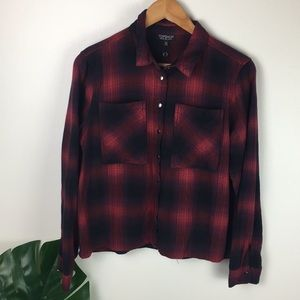 Topshop | plaid snap down shirt!